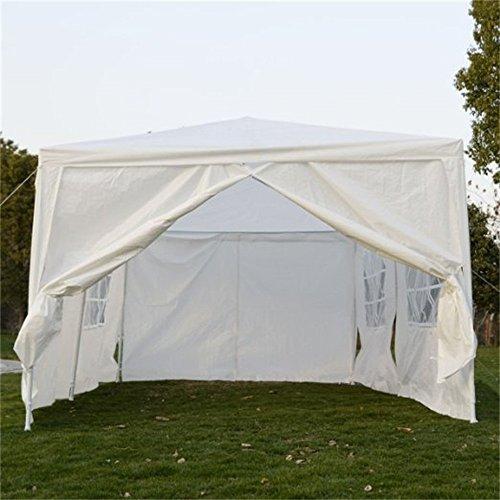 Qisan Canopy tent ... & Qisan Canopy tent carport 10 X 20-feet Carport with sidewalls ...