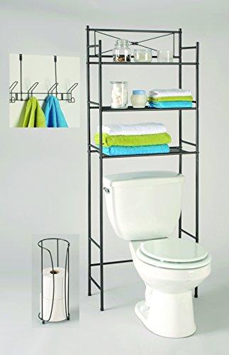 Ldr bathroom storage space saver set 3 piece bronze finish for 3 piece bathroom ideas