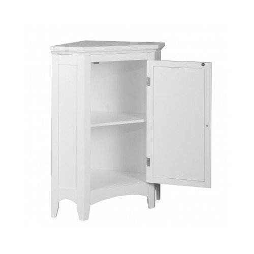 White corner floor storage cabinet with shutter door for White bedroom cabinet