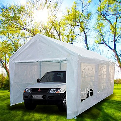 Portable Building Tents : Peaktop heavy duty portable carport garage car